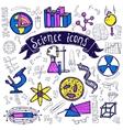Science symbols icons doodle sketch vector image