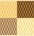 seamless wheat background patterns vector image vector image