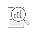 search report line icon on white background vector image vector image