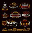 Set bakery labels badges and design elements