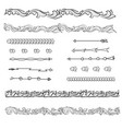 set dividers and borders vector image vector image