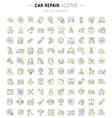 set line icons car repair vector image