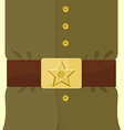 Soldiers retro clothing Strap and buckle with star vector image