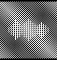 sound waves icon icon hole in moire vector image vector image