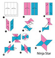 step instructions how to make origami a ninja star vector image
