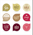 stickers collection vector image vector image
