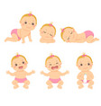 toddler girl vector image