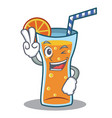 two finger cocktail character cartoon style vector image vector image