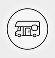 van house on wheels camping icon vector image vector image