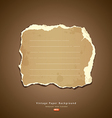 Vintage Ripped paper vector image