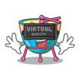 virtual reality cartoon timpani in the studio vector image