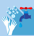 washing hand icon flat style vector image vector image
