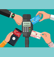 wireless contactless or cashless payments vector image vector image