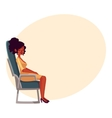 Young beautiful black African woman seating in vector image vector image