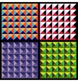 Set of geometrical patterns vector image