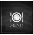 vintage with restaurant menu design on blackboard vector image