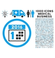 2016 Day Icon with 1000 Medical Business Symbols vector image vector image