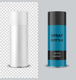 3d realistic white blank spray can spray