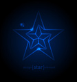 Abstract Glow Blue star vector image vector image