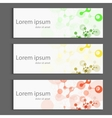Abstract molecules banner design vector image