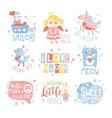 baby nursery room print design templates set