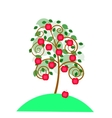 Beautiful apple tree with an apples for your vector image