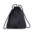 black sport backpack bag vector image vector image