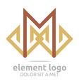 brown element m design symbol icon vector image vector image