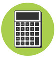 calculator icon flat style icon design vector image