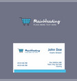 Cart logo design with business card template