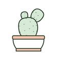 cartoon cactus in a pot vector image vector image