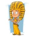 Cartoon little Pharaoh boy from Egypt vector image vector image