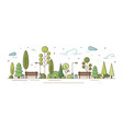 city park or municipal garden with trees bushes vector image vector image