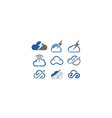 cloud shapes design set vector image