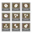 coffee signs and icons set for cafes and shops vector image