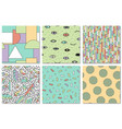 collection trendy seamless colorful patterns vector image vector image