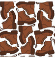 color seamless pattern with brown boots vector image vector image