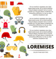 colorful flat personal protective equipment icons vector image vector image