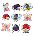 Colorful insects vector image