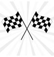 Crossed black and white checkered flags vector image vector image