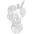 Cute little elephant vector image