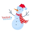 Cute snowman vector image