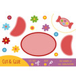 education paper game for children candy vector image vector image