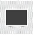 empty photo frame on transparent background vector image
