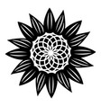 fashion flower icon simple style vector image