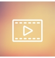 Filmstrip thin line icon vector image