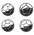 football soccer balls on white background design vector image