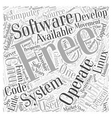 Free Operating System Word Cloud Concept vector image vector image