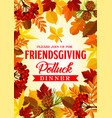 friendsgiving potluck dinner invitation vector image vector image