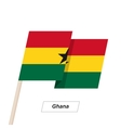 Ghana Ribbon Waving Flag Isolated on White vector image vector image